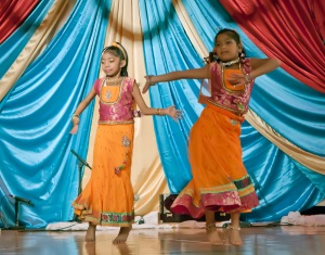 Younger dancers of Bharata Natyam Classical Dance.